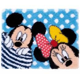 Tapis kit au point noué Disney mickey & minnie - 4