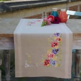 Kit chemin de table violettes - 4