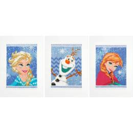 Cartes de vœux Disney frozen aida lot de 3 - 4