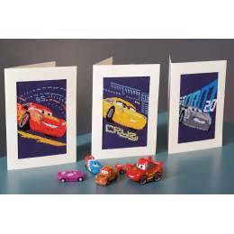 Cartes de vœux Disney cars aida lot de 3 - 4