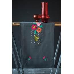 Kit chemin de table colourful flowers - 4