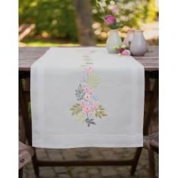 Kit chemin de table fleurs et feuilles - 4