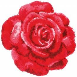 Tapis kit au point noué rose rouge - 4
