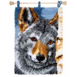 Kit tapis au point noué loup - 4