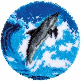 Kit tapis modelé au point noué dauphin - 4