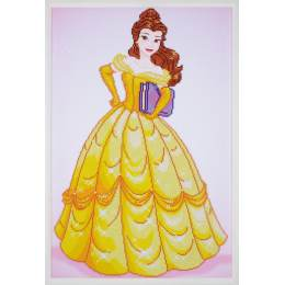 kit Diamond painting Disney belle 47x72 cm - 4