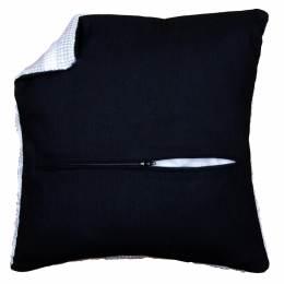 Kit dos de coussin avec fermeture - noir - 4