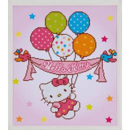 kit Diamond painting Hello Kitty ballon 37x44 cm - 4