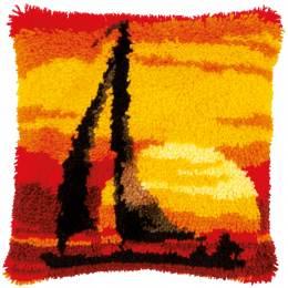 Kit coussin au point noué coucher de soleil - 4