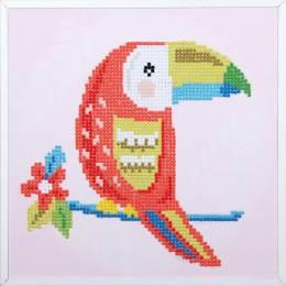 kit Diamond painting toucan + cadre 24x24 cm - 4