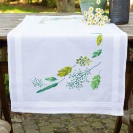 Kit chemin de table feuilles & herbes - 4
