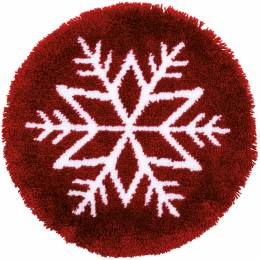 Kit tapis modelé au point noué etoile de glace - 4