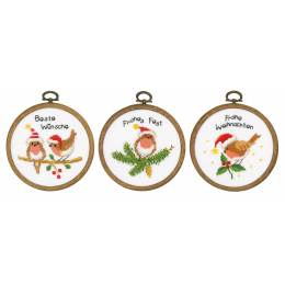 Kit miniature oiseaux de noël lot de 3 - 4