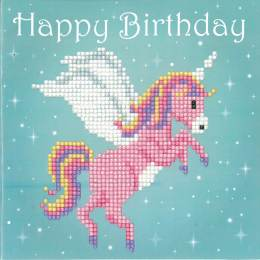 kit Diamond painting carte d'anniversaire licorne - 4