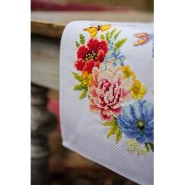 Kit chemin de table aïda fleurs colorées - 4