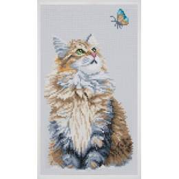 kit Diamond painting chat 21x39 cm - 4