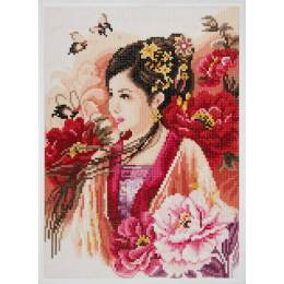 kit Diamond painting dame asiatique 30x43 cm - 4