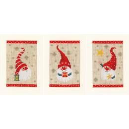 Kit carte de voeux gnomes de noël lot de 3 - 4