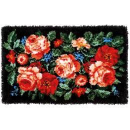 Kit tapis au point noué roses - 4