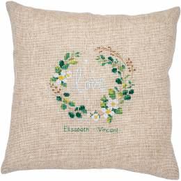 Embroidery cushion kit love - 4