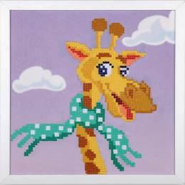 kit Diamond painting girafe + cadre 24x24 cm - 4