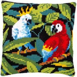 Kit coussin au point de croix oiseaux tropicaux - 4