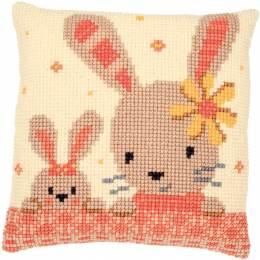 Kit coussin point de croix sweet bunnies - 4