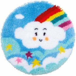 Kit tapis modelé au point noué nuage arc-en-ciel - 4