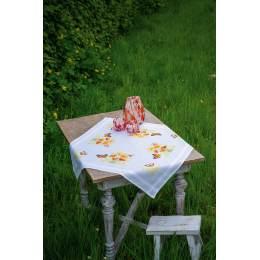 Kit nappe fleurs orange et papillons - 4
