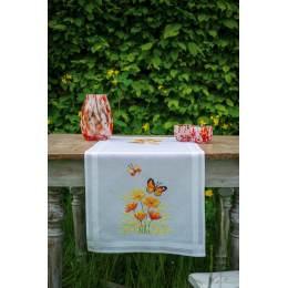 Kit chemin de table fleurs orange et papillons - 4