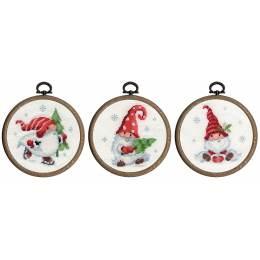 Kit miniature gnomes de noël lot de 3 - 4