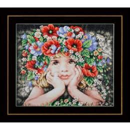 kit Diamond painting fille avec des fleurs - 4