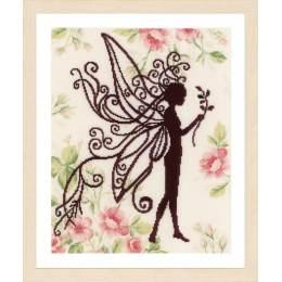 Kit au point compté silhouette de fée fleur - 4