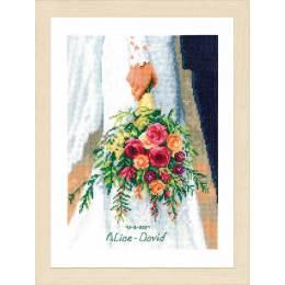 Kit point compté bridal bouquet - 4