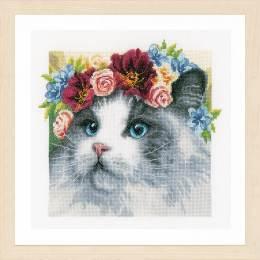 Kit au point compté ragdoll couronne de fleurs - 4