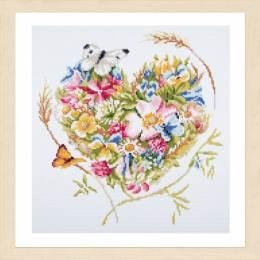 kit Diamond painting coeur de fleurs - 4