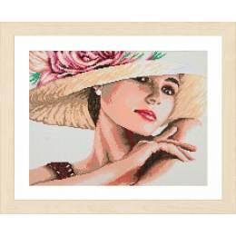 kit Diamond painting femme avec chapeau - 4