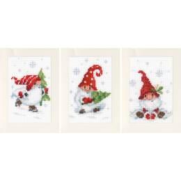 Kit carte de gnomes de noël lot de 3 - 4