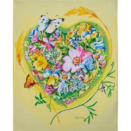 Kit peinture par numéro a heart of flowers - 4