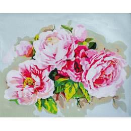 Kit peinture par numéro bouquet of peonies - 4