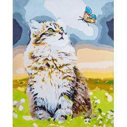 Kit peinture par numéro forest cat - 4