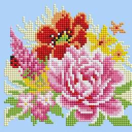 Diamond painting carte de voeux kit fleurs - 4