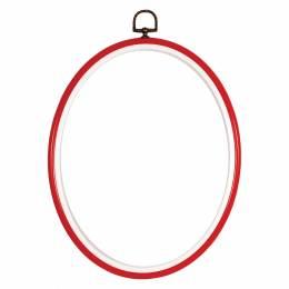 Cadre en plastique -rouge 10/14cm - 4