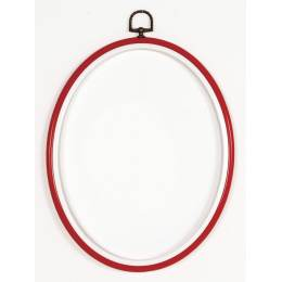 Cadre en plastique rouge 12/17cm - 4