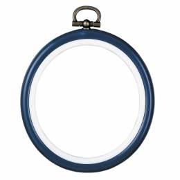 Cadre en plastique bleu7,5cm - 4