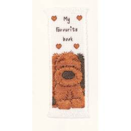 Broderie point compté marque pages 'biscuit - 4