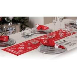 Chemin de table rouge kit complet 30/105 c - 4