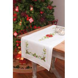 Chemin de table blanc kit complet 40/100cm - 4