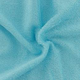 Tissu éponge de bambou turquoise perroquet - 401