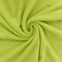 Tissu éponge de bambou vert anis - 401